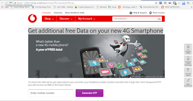 Vodafone Free Data Offer & 3G/4G Internet Tricks March 2021