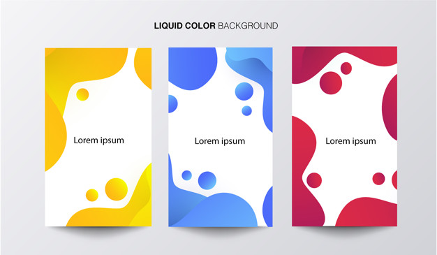 Liquid color banner Free Vector