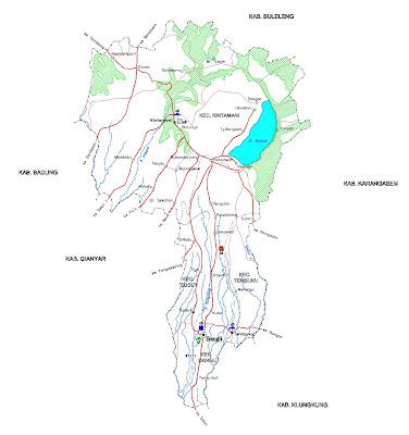 Gambar Peta Infrastruktur Kabupaten Bangli