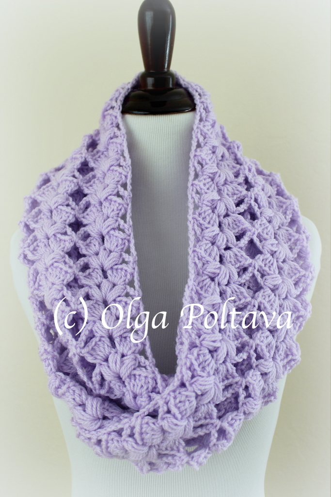 Lacy Crochet Lilac Lace Spring Scarf Free Crochet Pattern And Video