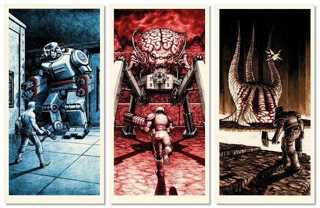Três chefões de três games da id Software