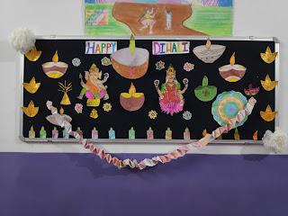 Bulletin Board Decoration on Diwali