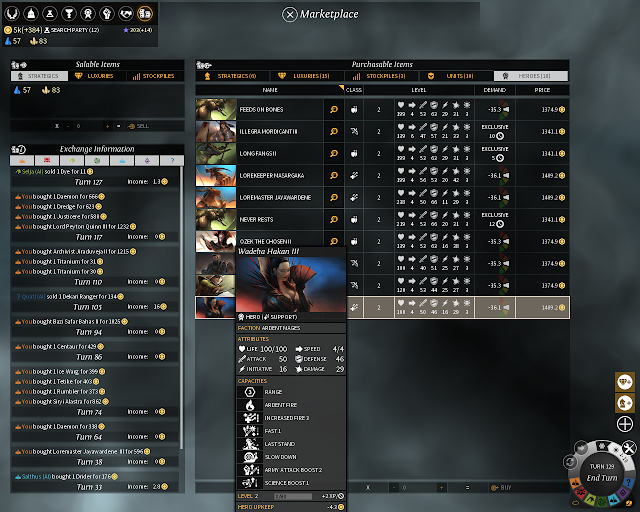 Hero Marketplace | Endless Legend Game Screenshot