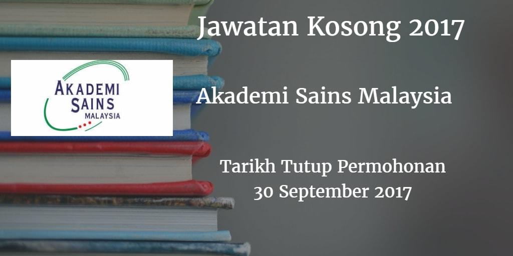 Jawatan Kosong ASM 30 September 2017
