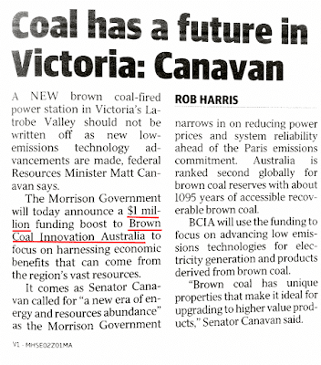 Coal has a future in Victoria: Matt Canavan
