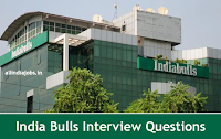 India Bulls Interview Questions