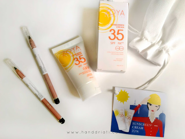 Review ZOYA Cosmetics: Eye Brow Pencil + Sunscreen Cream
