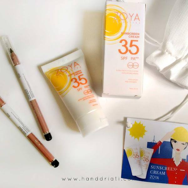 Review ZOYA Cosmetics: Eye Brow Pencil + Sunscreen Cream