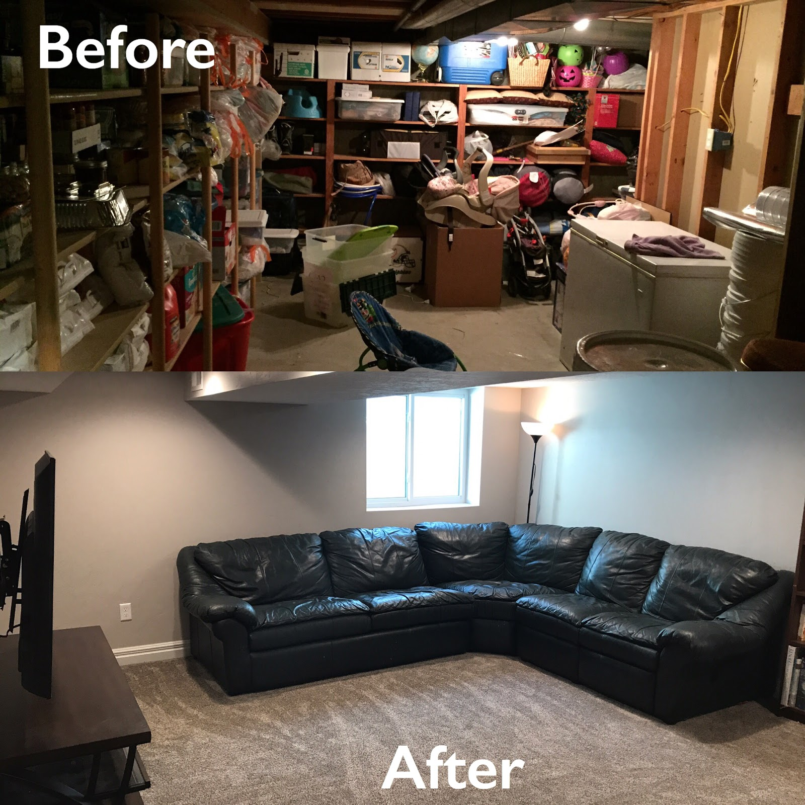 Basement Living Rooms Light Grey Walls White Trim Room April All Year Reveal Before After