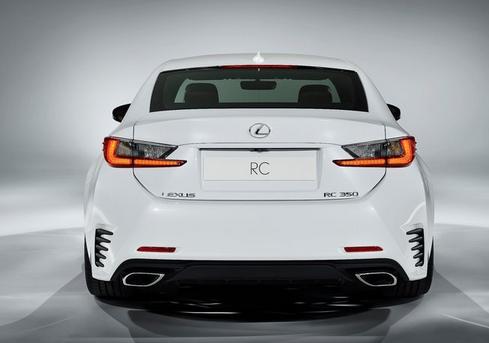 2015 Lexus RC F Sport Rear View