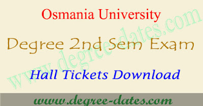 OU degree 2nd sem hall tickets & 1st year ug results 2017