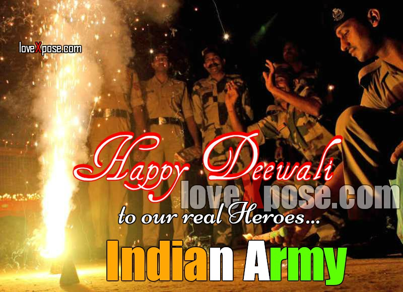 Happy Diwali To Indian Army Soldier