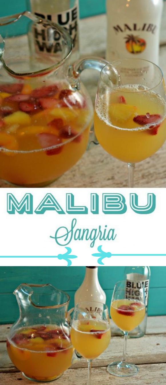 MALIBU SANGRIA #sangria #drink