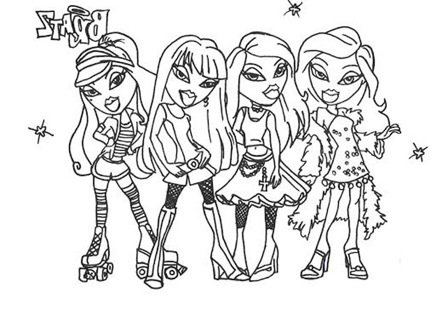 Bratz Coloring Sheet   Flower Coloring Pages For Girls Easy  Printable Kids Colouring Pages
