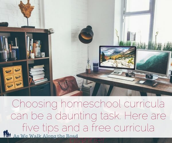Back to homeschool tips for choosing curricula