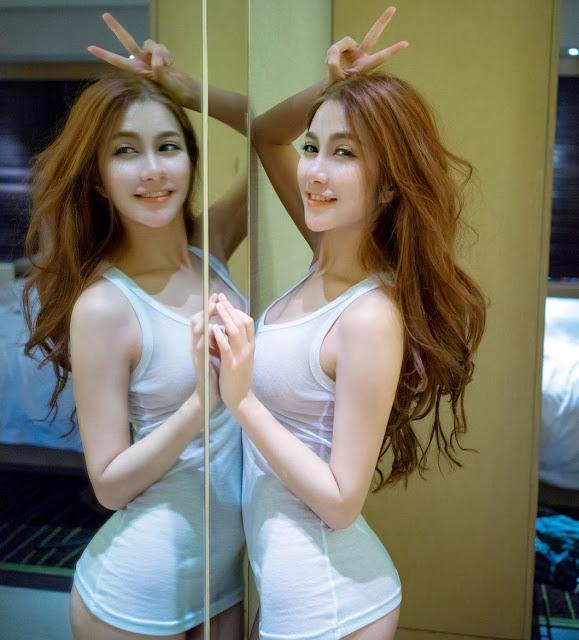 Hot girl Thái Lan gợi cảm với áo trắng mỏng manh