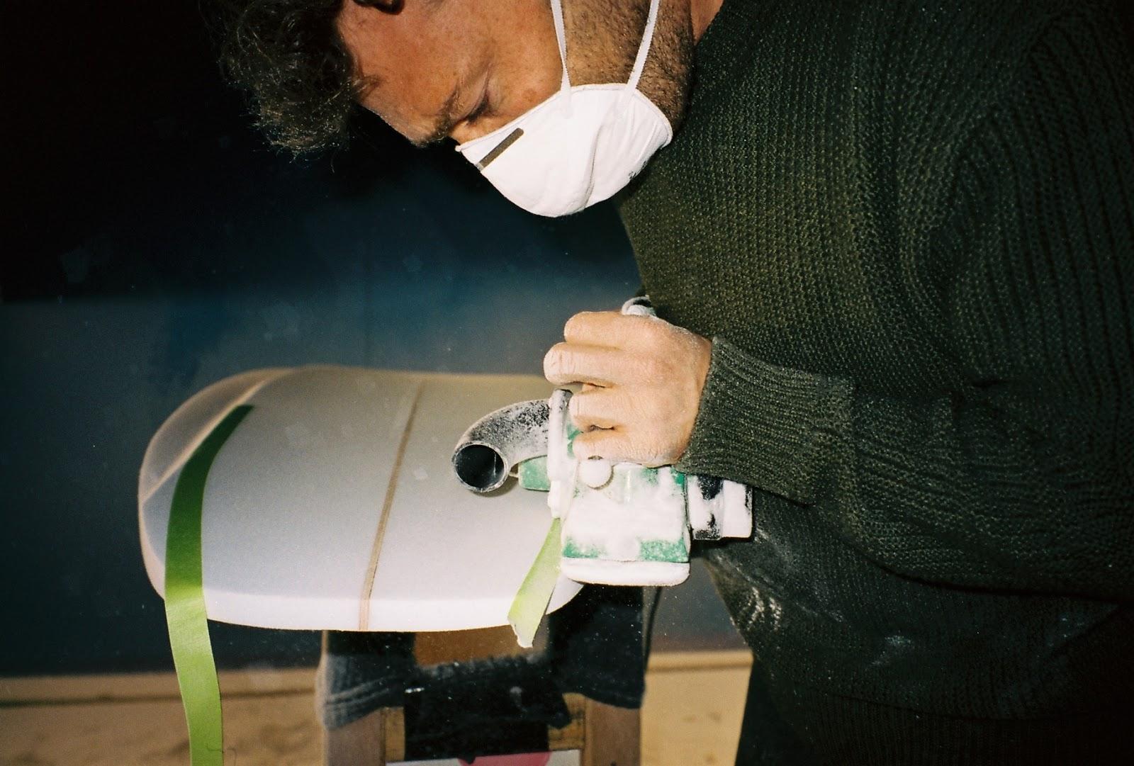 Vincent Lemanceau, shaper at Surfin Estate - hossegor