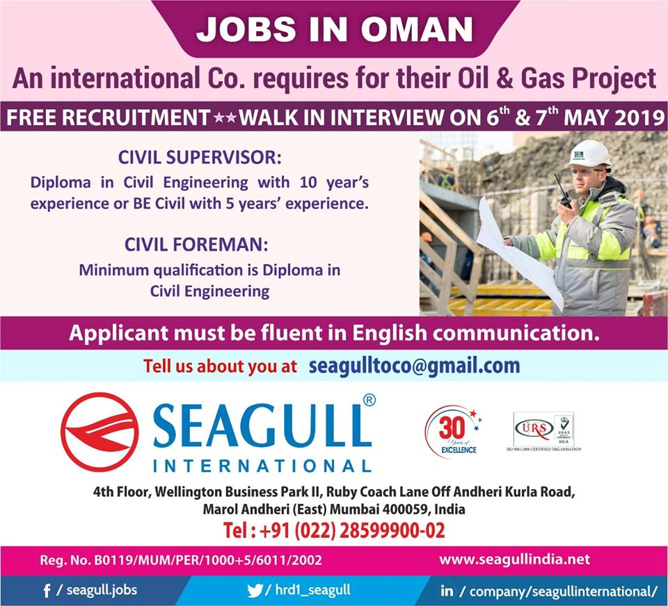 an international company requires for their oil & gas project
