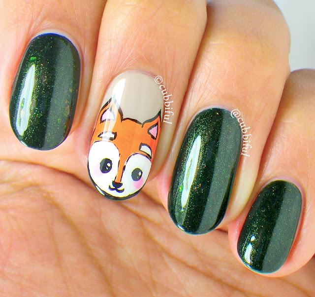 Q Riouser Q Riouser Nail Art: Cubbiful: Fox Nail Art And PiCture POlish Mallard