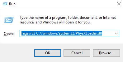le fichier physxloader.dll