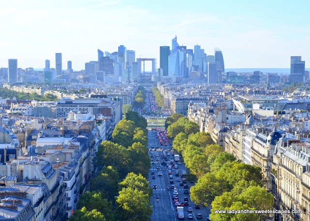 La Defense from Arc de Triomphe
