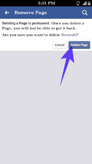 Facebook page delete kese kare 6