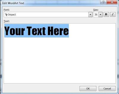tinhoccoban.net - Hộp hội thoại Edit Wordart Text