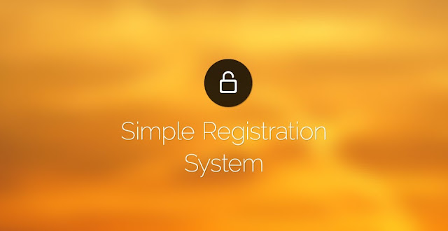 Making a Super Simple Registration System With PHP and MySQL