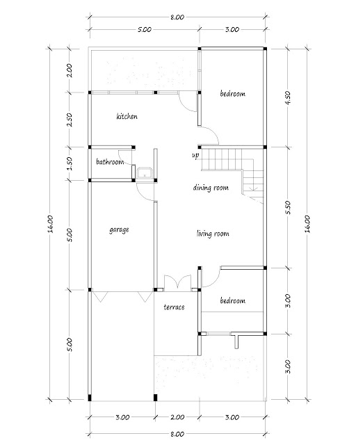 small house plan 10a