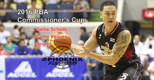 List of Phoenix Fuel Masters 11 Games Elimination Round 2016 PBA Commissioner's Cup