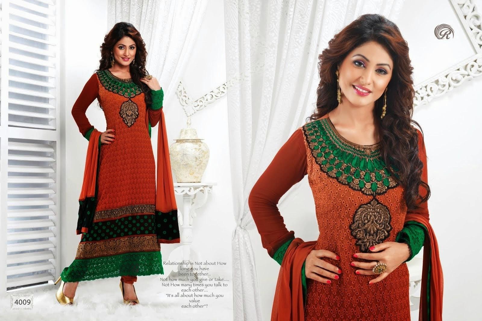 Hina Khan Akshara Latest Designer Salwar Kameez Designs