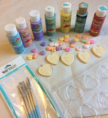 how to make conversation hearts, planner charms, valentine, stefanie girard
