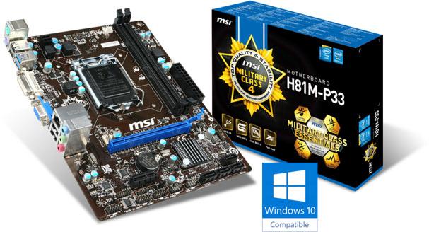 MSI H81M-P33 Motherboard