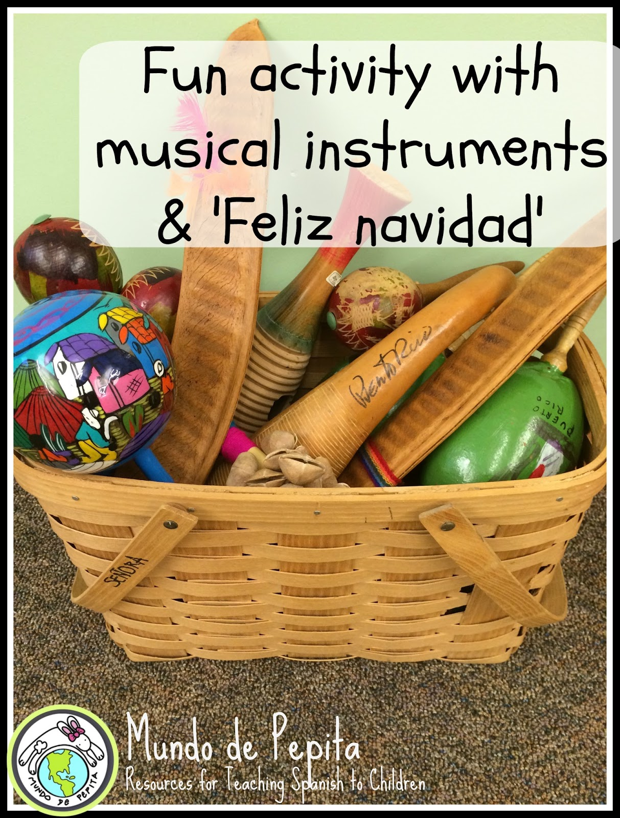 Fun And Easy Activity To Do With Musical Instruments And Feliz Navidad