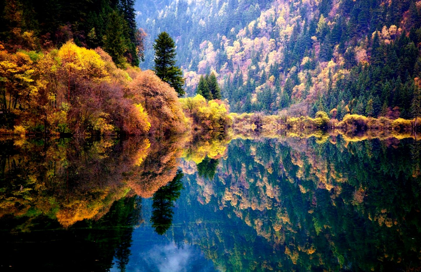 Nature Mountain Autumn Forest Lake Hd Wallpaper Wallpapers Pc