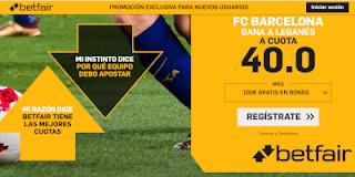 betfair supercuota Barcelona gana a Leganes 26 septiembre