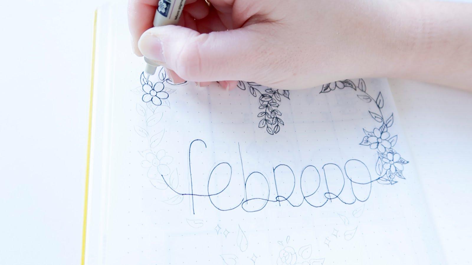 Dibujando La Portada Del Bullet Journal Handbox