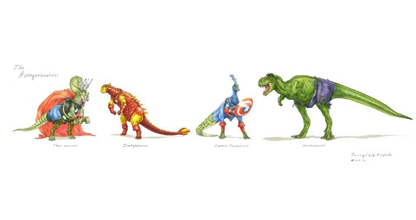 8 Hilarious Pictures Of Dinosaur Avengers Images The Geek Twins