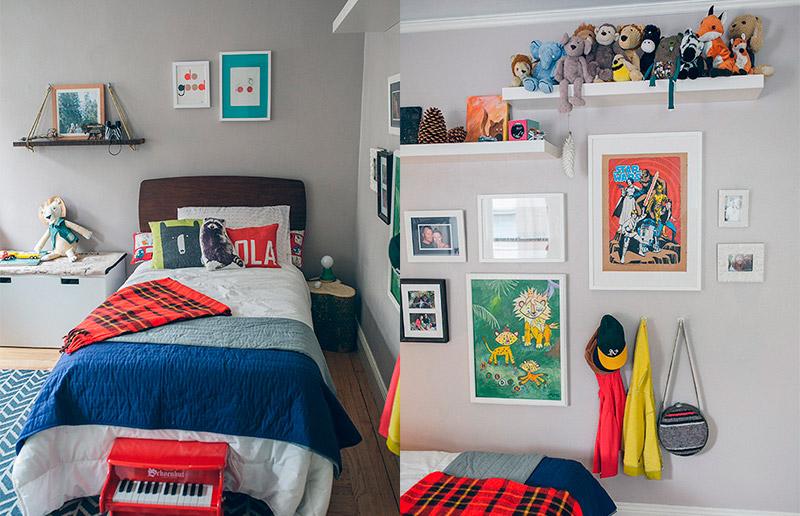 Um quarto de menino suuuper bacana e cheio de ideias originais!