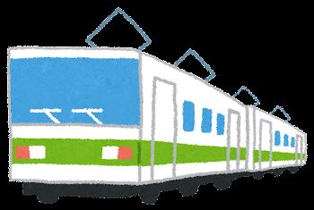 電車のイラスト「黄緑ライン」