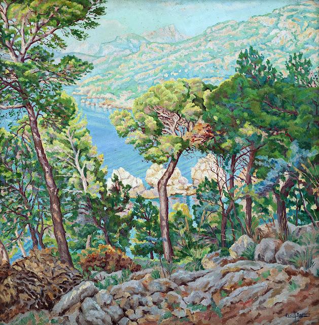José Pedro Barceló Oliver, Paisaje de Deiá, Mallorca en Pintura, Mallorca Pintada, Paisajes de Mallorca
