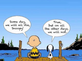 when snoopy and charlie brown argue about 'some day we will all die'