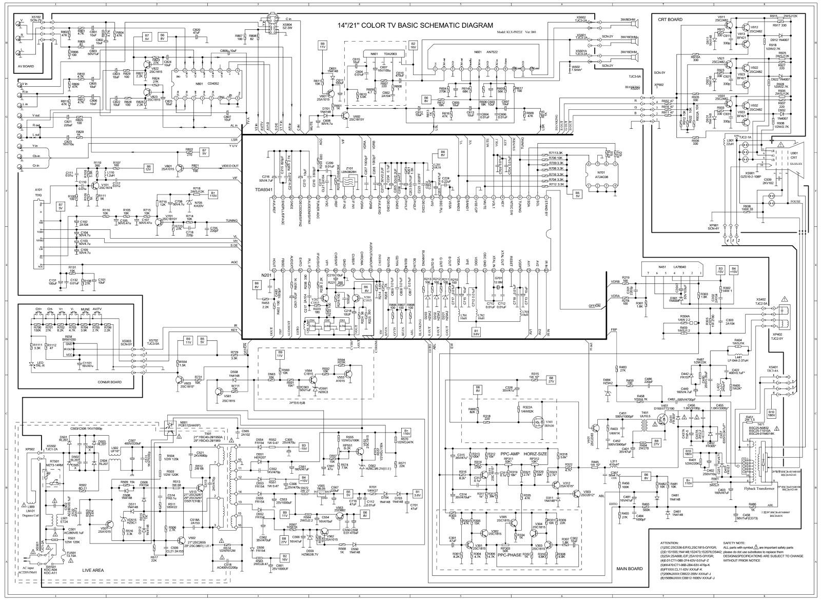 Schematic Diagrams Color Tv Circuit Diagram Using Tda