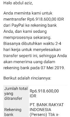 Cara cepat withdraw paypal