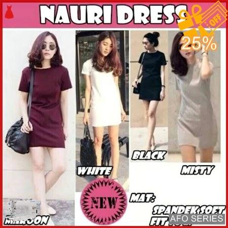 AFO075 Model Fashion Nauri Dress Modis Murah BMGShop