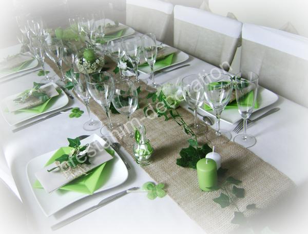 Ma d coration de mariage d corations de table esprit nature for Deco de table nature