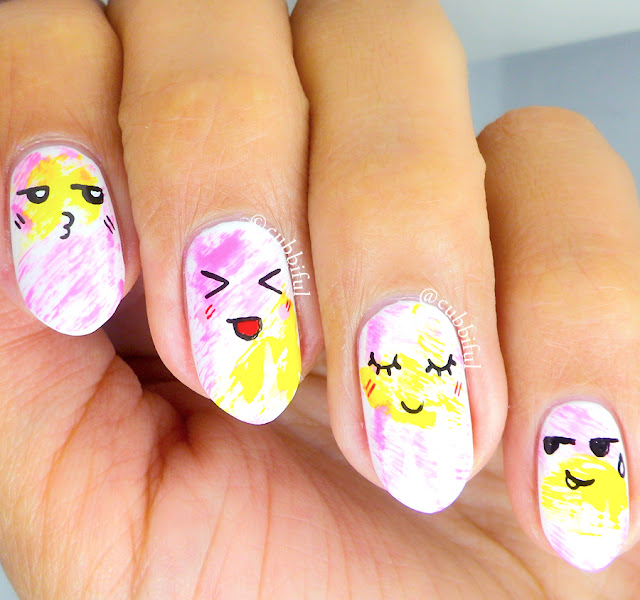 Kawaii Dry Brush Nails