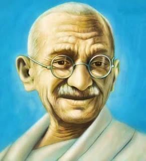 Imagen de Mahatma Gandhi a color