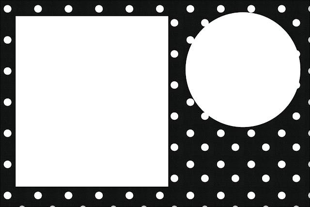 Negro Con Lunares Blancos: Invitaciones Para Bodas Para