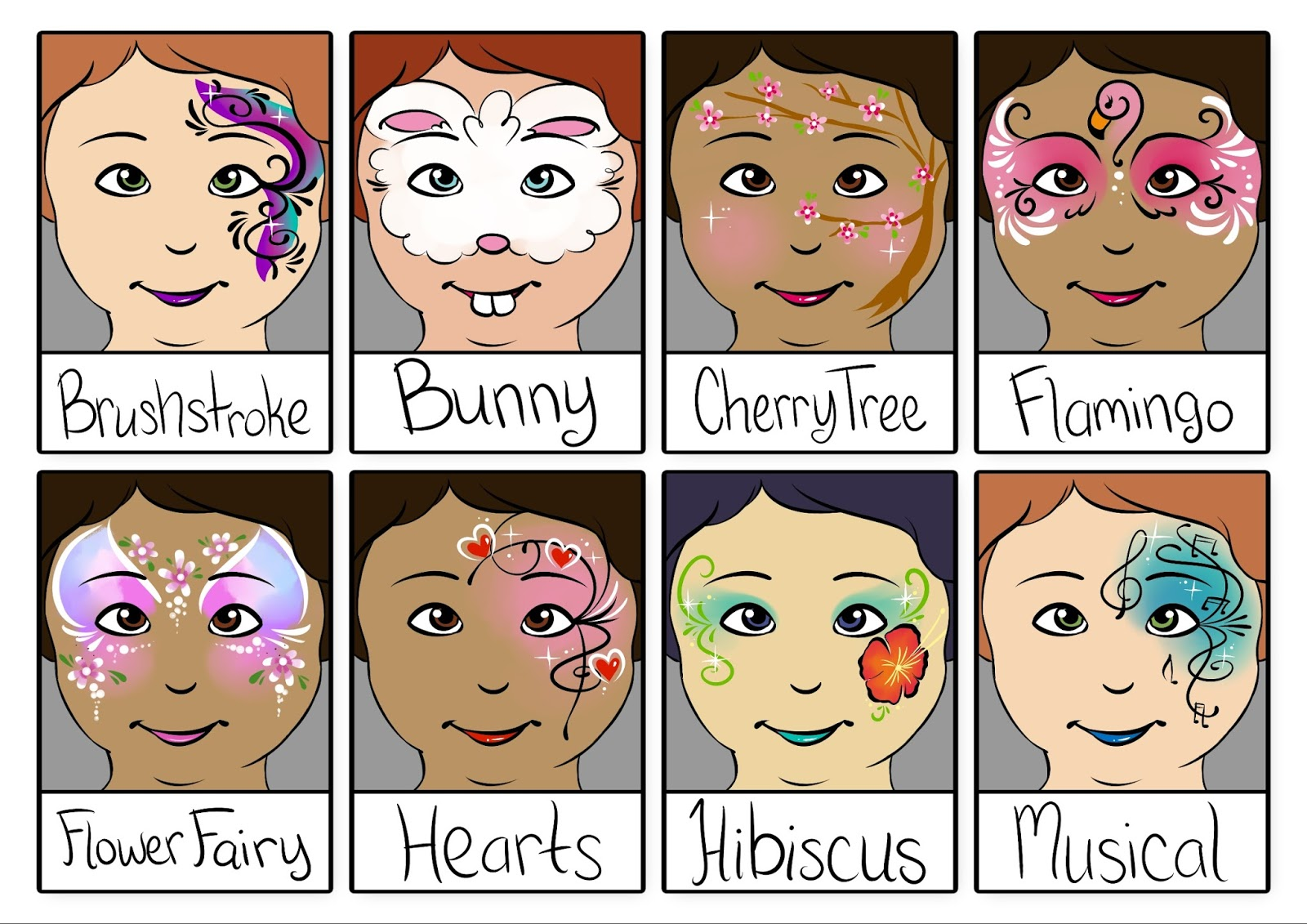 Various Face Painting Designs Girls Will Love For A Birthday Party Page 1